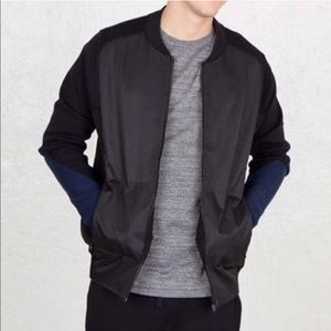 NikeLab Knit Bomber Zip Jacket Black Blue Medium